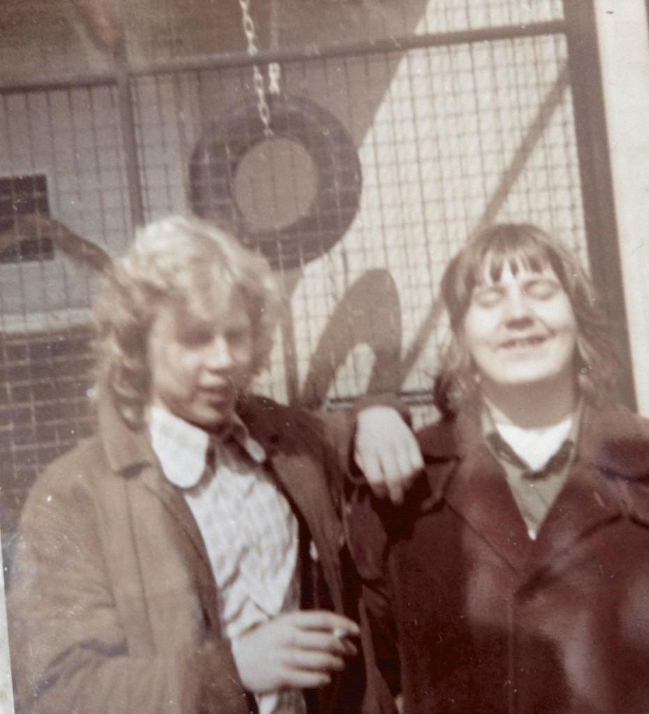 Minä ja Jyrki Nummi Lontoossa 1972, Tapiolan Yhteiskoulun Big Bandin Lontoon keikan vapaa-aikana.