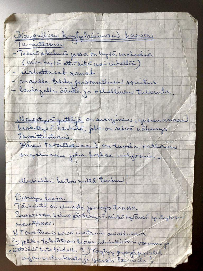 Dannyn ohjeet kaupallisen levytysprojektin menestymiseen. Ohjeen puhtaaksi kirjoitti Armi Aavikko joskus 1990-luvulla laivakeikan keikkatauolla.